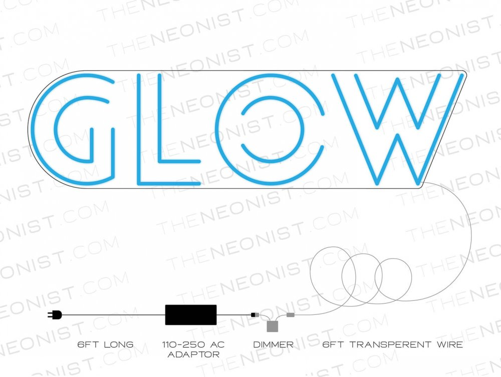 glow neon sketch