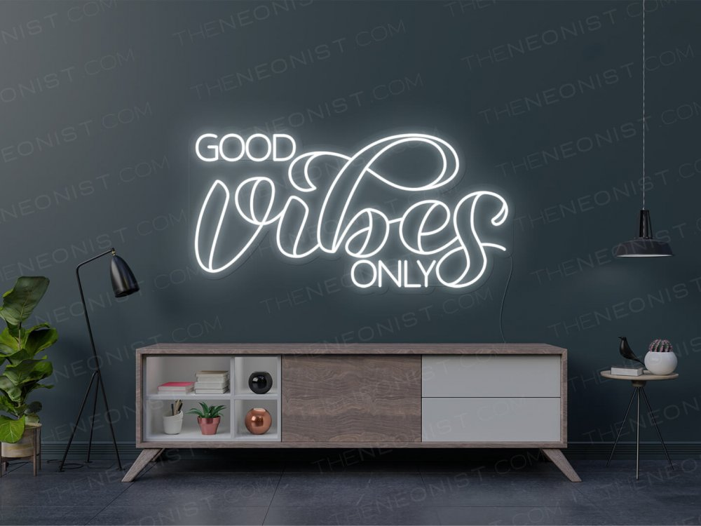 neon good vibes only design mix