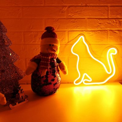 cat led neon sign